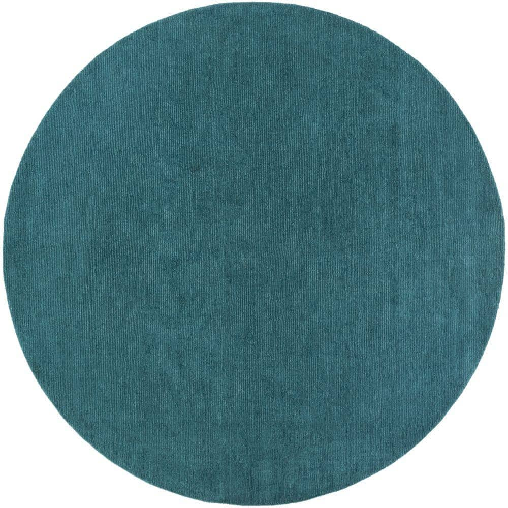 Artistic Weavers Falmouth Teal 6 Ft X 6 Ft Indoor Round Area Rug S00151020776 The Home Depot