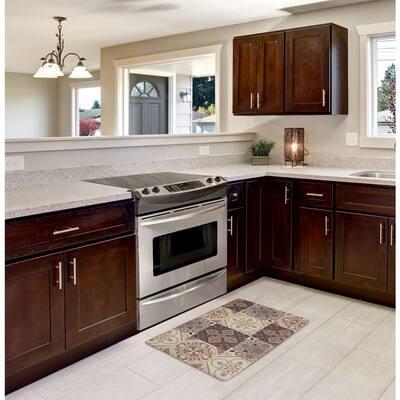 Kitchen Tile Collage 20 in. x 32 in. Anti-Fatigue Gelness Kitchen Mat