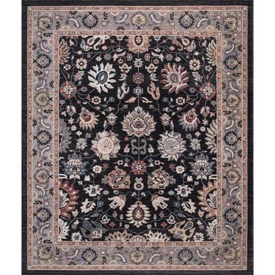 Gramercy Black 5 ft. x 7 ft. Floral Area Rug