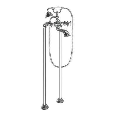 Weymouth 2-Handle Wall Mount Roman Tub Filler Trim Kit in Chrome (Valve Not Included)