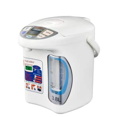 16 Cup White Electric Thermo Dispenser with Wide Angle Water Level Window