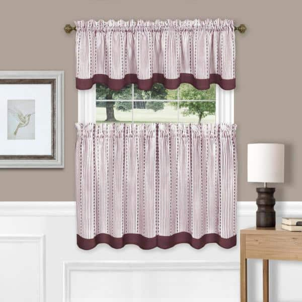 Valance Red with White Polka Dots Window Treatment Custom Made 42 W X 14 L