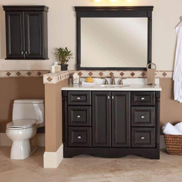 St Paul Valencia 22 In W X 28 H, Bathroom Toilet Cabinets