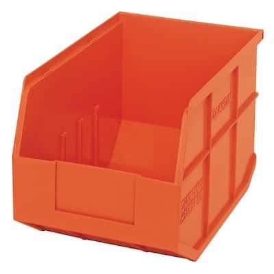 Stackable Shelf 12-Qt. Storage Tote in Orange (6-Pack)
