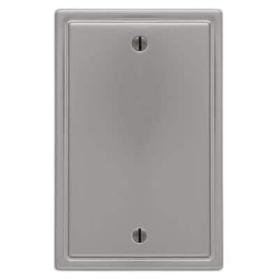 Moderne 1 Gang Blank Steel Wall Plate - Brushed Nickel