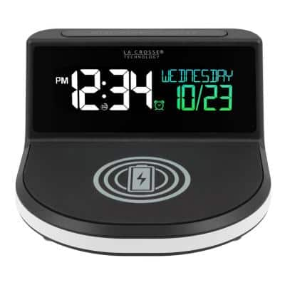Wireless Charging Alarm Clock with Glowing light base