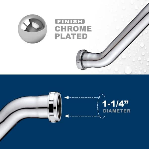 Do it 1-1//4 In 1 Each x 1-1//4 In Polished Chrome 22GaugeDouble Offset 1037K