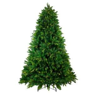 7.5 ft. Pre-Lit Gunnison Pine Artificial Christmas Tree with Clear Lights