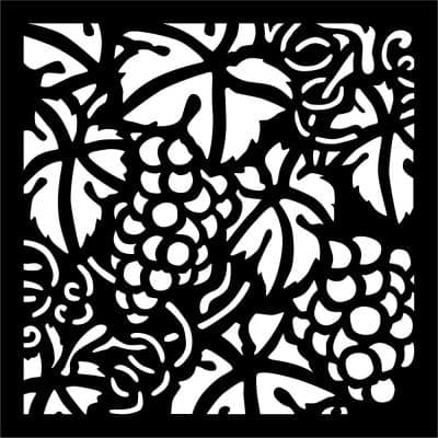 0.3 in. x 22.8 in. x 1.9 ft. Grape Vine Recycled Plastic Charcoal Wall Art