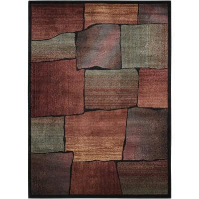 Expressions Multicolor 5 ft. x 7 ft. Geometric Contemporary Area Rug