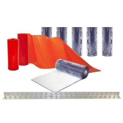 Clear-Flex II 4 ft. x 7 ft. PVC Strip Door Kit
