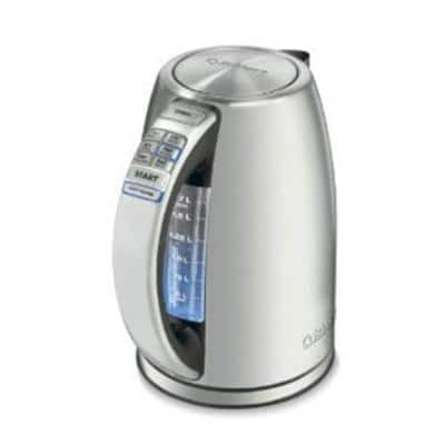Perfect Temp 7 Cup Silver Cordless Electric Kettle