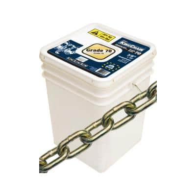 3/8 in. x 45 ft. Grade 70 Transport Chain Yellow Chromate Plastic Bucket