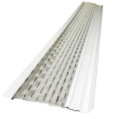 4 ft. x 5 in. Clean Mesh White Aluminum Gutter Guard (25-per carton)