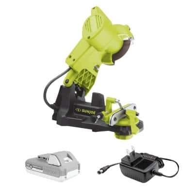 24-Volt Cordless Chain Saw Sharpener Kit with 2.0 Ah Battery + Charger