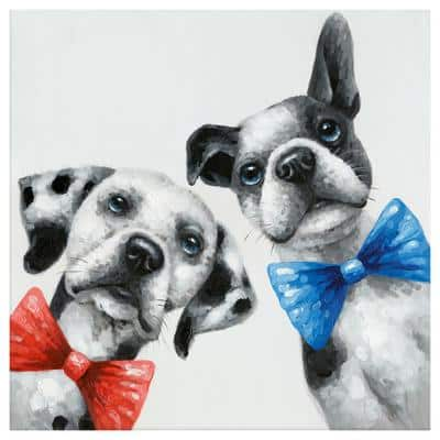 """Whimsical """"Hipster Brothers"""" by Unknown Artist Canvas Wall Art"""