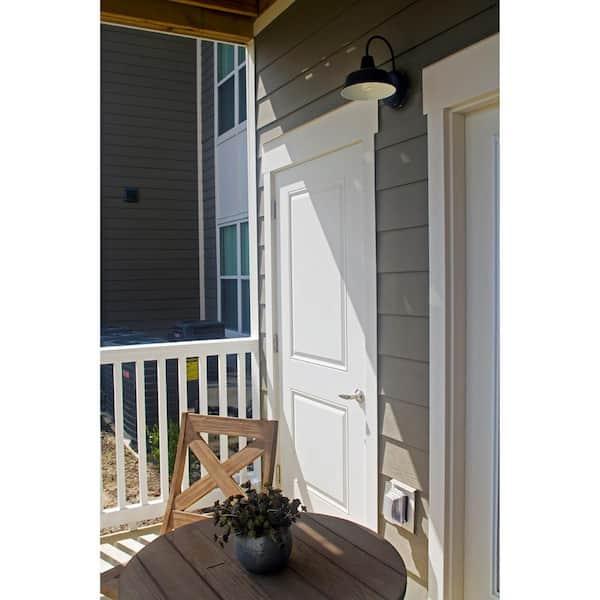 Design House - Mason 1-Light Forest Green Outdoor Wall Light Sconce