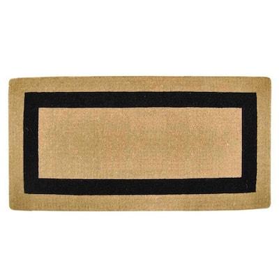 Single Picture Frame Black 36 in. x 72 in. Heavy-duty Coir Door Mat