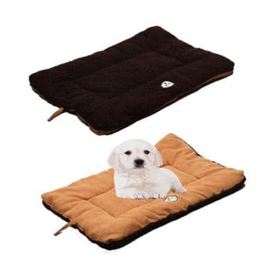 Eco-Paw Large Brown and Cocoa Reversible Pet Bed