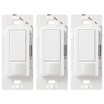 Maestro 5 Amp Single-Pole or Multi-Location Motion Sensor Switch, White (3-Pack)