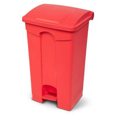 23 Gal. Red Fire Retardant Step-On Trash Can