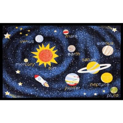 Fun Time Outer Space Navy 4 ft. x 6 ft. Area Rug