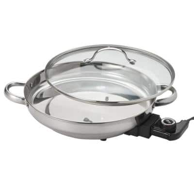 132 sq. in. Stainless Steel Electric Skillet