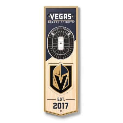 NHL Vegas Golden Knights 6 in. x 19 in. 3D Stadium Banner-T-Mobile Arena