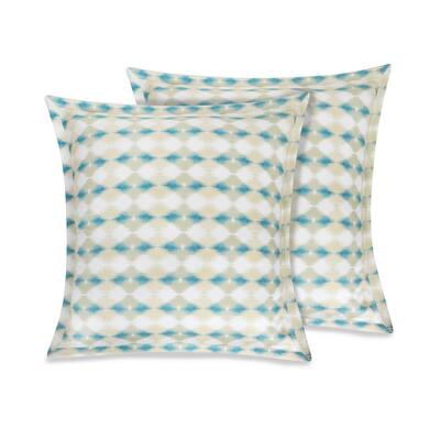 Delara GOTS Certified 100% Organic Cotton Multi-Color 2 in. Flange 26 in. x 26 in. Euro Sham (Set of 2)