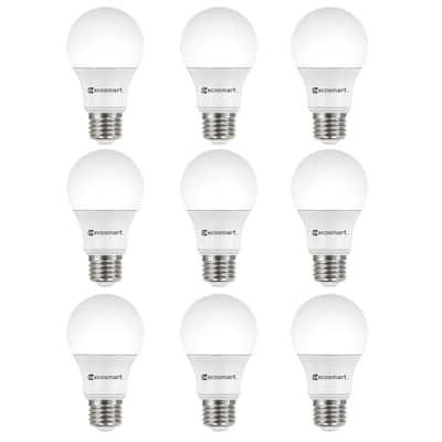 60-Watt Equivalent A19 Non-Dimmable LED Light Bulb Soft White (9-Pack)