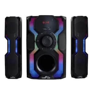 2.1-Channel Bluetooth Multimedia Wired Speaker Stereo Shelf System