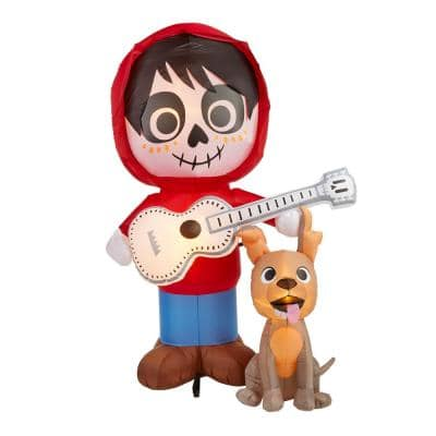 6.5 ft. Coco Miguel with Guitar and Dante Scene Airblown Disney Halloween Inflatable