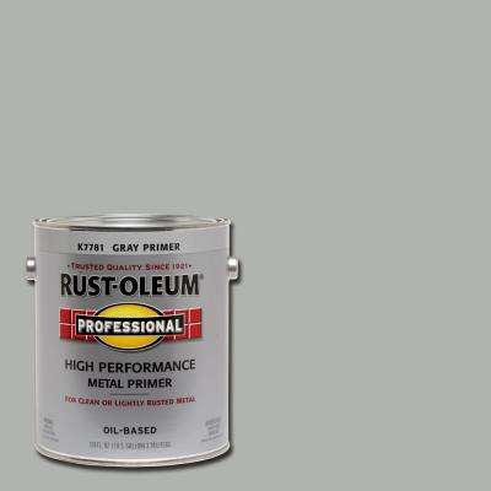 1 gal. High Performance Flat Gray Oil-Based Interior/Exterior Metal Primer (2-Pack)