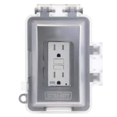 White 1-Gang Extra-Duty Non-Metallic While-In-Use Weatherproof Horizontal/Vertical Receptacle Cover