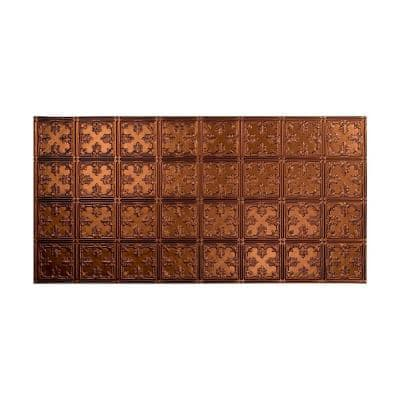 Traditional #10 2 ft. x 4 ft. Glue Up Vinyl Ceiling Tile in Oil Rubbed Bronze (40 sq. ft.)