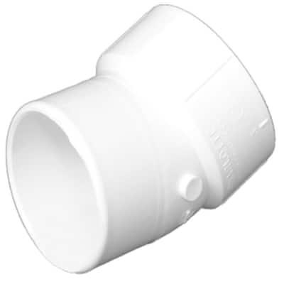 10 in. PVC DWV 22-1/2-Degree Spigot x Hub Street Elbow Fitting