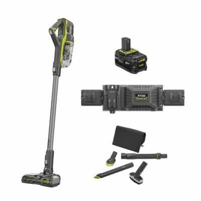 18-Volt ONE+ Cordless Stick Vacuum Cleaner Kit with 4 Ah Battery, EVERCHARGE Charger, and 4-Piece Vacuum Accessory Kit