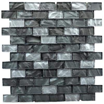 13 in. x 12 in. Glass Mosaic Wall Tile (6 sq. ft. / case)