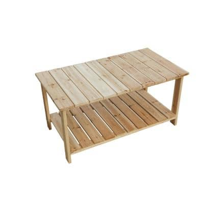 Rectangle Wood Outdoor Side Table