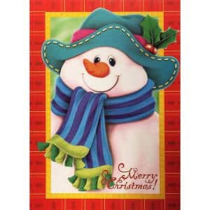 Snowman Decorative 12 in. x 18 in. 2-Sided Winter and Christmas Garden Flag