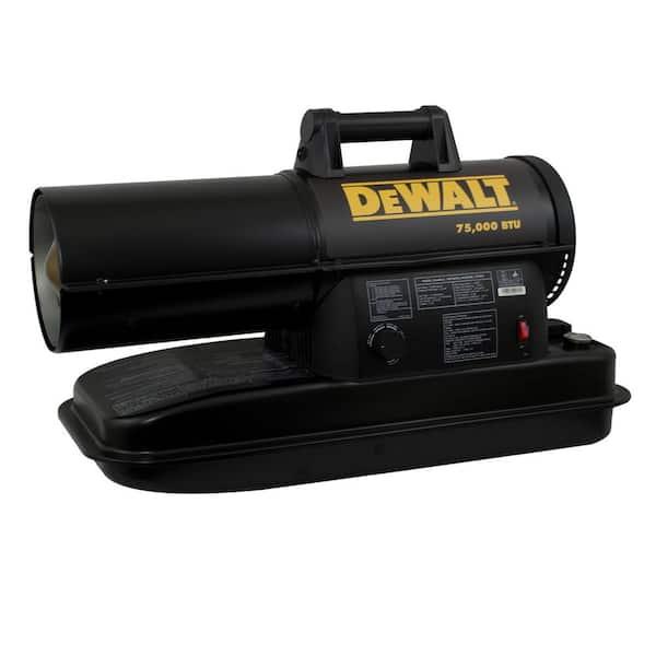 DEWALT 75,000 BTU Forced Air Kerosene Portable Heater