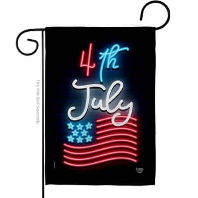 13 in. x 18.5 in. Lightful 4th July Garden Flag Double-Sided Patriotic Decorative Vertical Flags