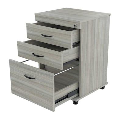 Smoke Oak Filing Cabinet