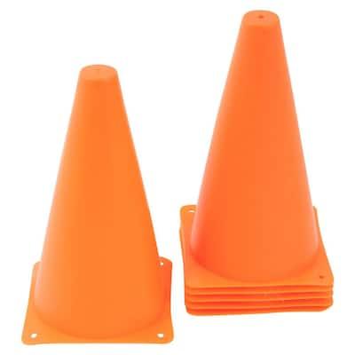 9 in. Sports Training Plastic Cone Orange (12-Pack)