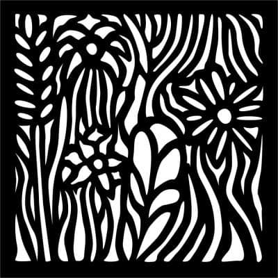 0.3 in. x 22.8 in. x 1.9 ft. Wild Flowers Wall Art & Fence Panel