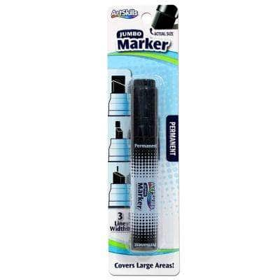 Jumbo Black Permanent Marker with Chisel Tip for Signs and Posters