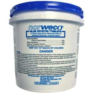 1.9 lb. Pail Blue Crystal Chlorine Tablets for Aerobic or Septic Systems