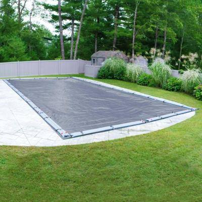 Value-Line 25 ft. x 50 ft. Rectangular Azure Blue Solid In-Ground Winter Pool Cover