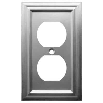 Continental 1 Gang Duplex Metal Wall Plate - Satin Nickel
