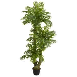 Indoor 5 ft. Triple Phoenix Palm Artificial Tree